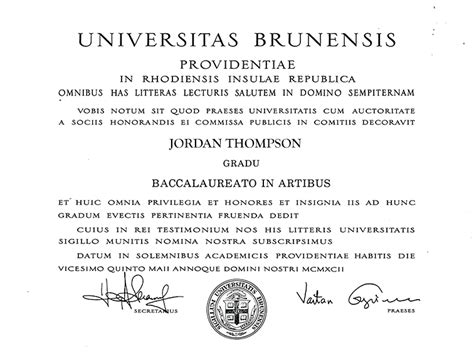 Ie Brown Mba Diploma by Brown Masterpiece Medallion Diploma Frame In