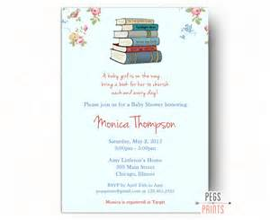 Storybook baby shower invitation printable book by pegsprints