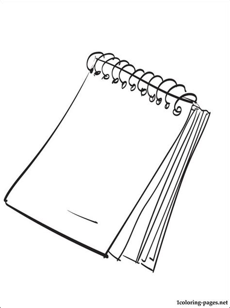 Notepad Coloring Page Coloring Pages Pad Coloring Page Catrak