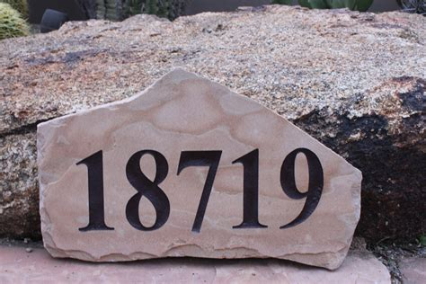 Landscape Rock House Number Flagstone Signs And Engraving The Light Benders