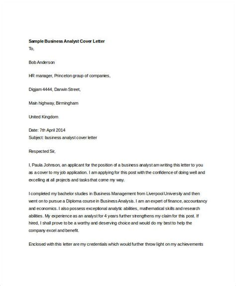 cover letter business analyst graduate 36 cover letter template in word free premium templates