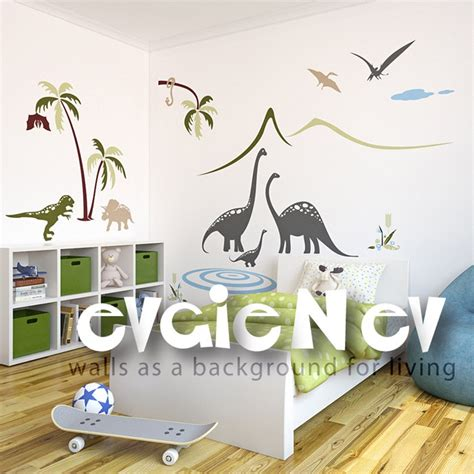 dinosaurs wall stickers bedroom 14 best dinosaurs small bedroom ideas images on