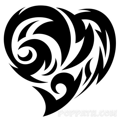 tribal love heart tattoos how to draw a tribal pop path