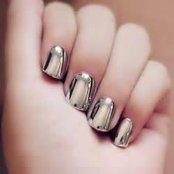 solid color nail designs 24 pcs heavy metal style solid color nail false nails