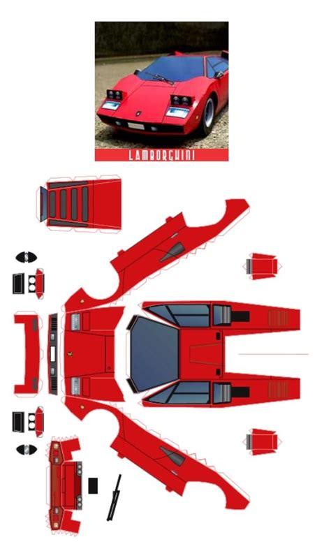 Papercraft Lamborghini - molde lamborghini paper molde and