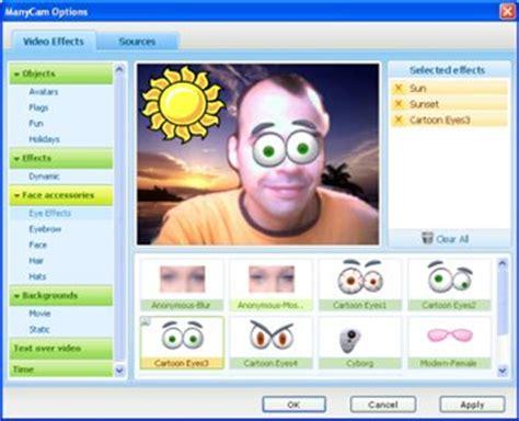 efectos para cam efectos para la webcam con manycam
