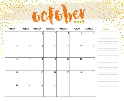 October 2018 Calendar Latest Calendar Calendar Planner Template 2018