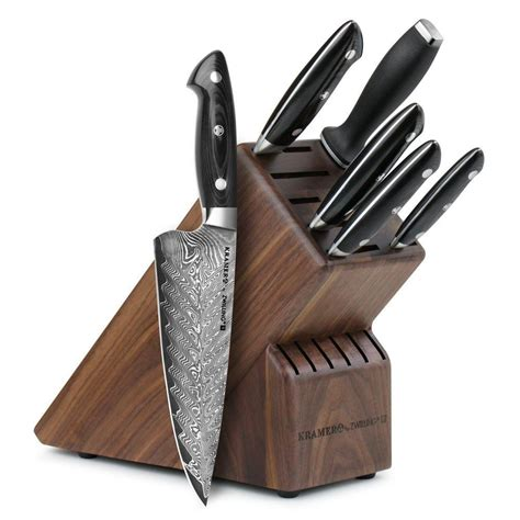 Henckels Kitchen Knives Zwilling J A Henckels Bob Kramer Stainless Damascus Knife Block Set Damascus Knife Damascus
