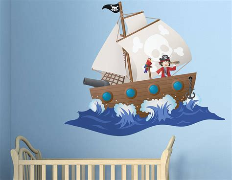 pirate ship wall stickers children s pirate ship wall sticker contemporary wall