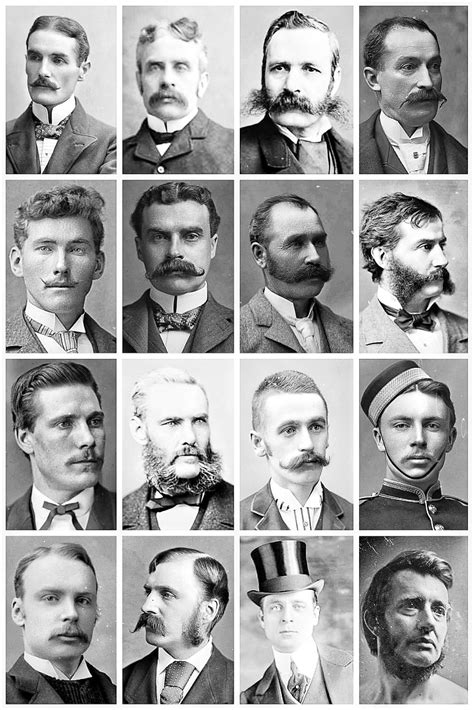 edwardian hairstyles for men victorian men s hairstyles facial hair a the