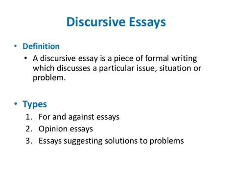 Writing A Discursive Essay by Writing Essays
