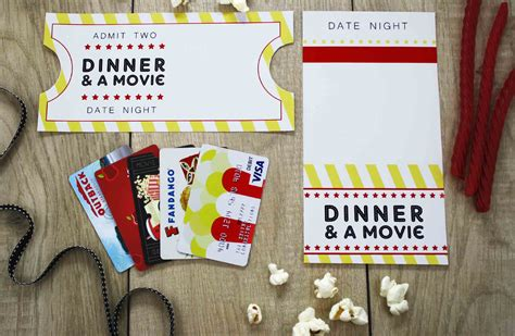 printable movie gift cards free printable give date night for a wedding gift gcg