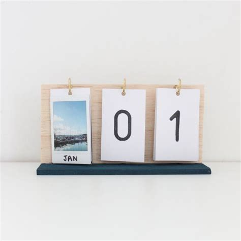 print your own desk calendar make your own flip calendar using instax prints and some