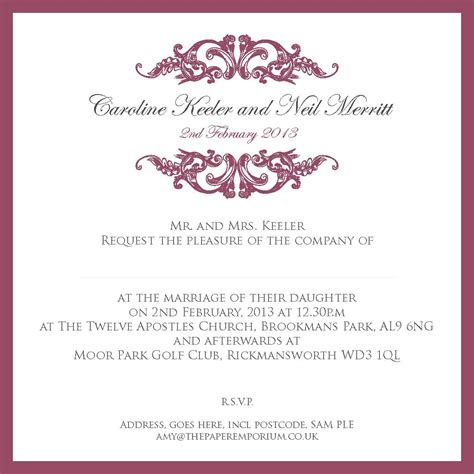 Wedding Invitation Templates For Friends by Free Invitation Template Invitation Template