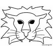 Coloriage Carnaval Masque D Un Lion Dessin &224 Imprimer