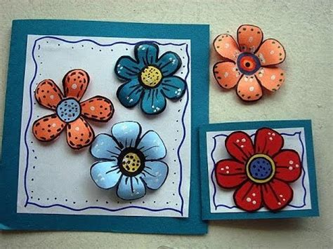 Make Paper Flowers Scrapbooking - diy colorful paper flowers for scrapbooking or card