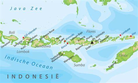 de kaart van de kleine sunda eilanden