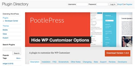 wordpress sections remove wordpress customizer sections pootlepress