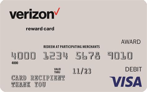 Verizon Fios Gift Card - verizon visa debit gift card check balance infocard co