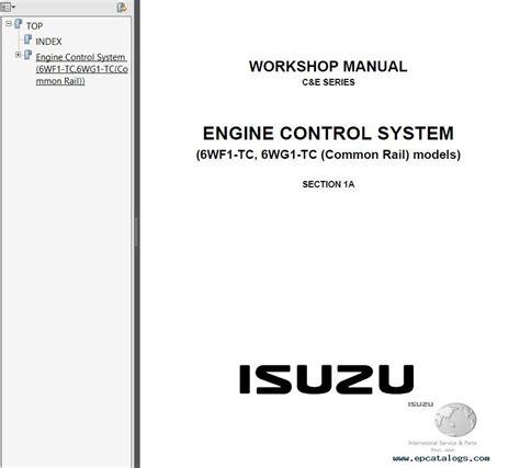 car engine manuals 2006 isuzu i series parental controls isuzu c e series workshop manuals pdf