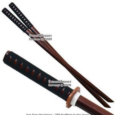 Setelan Sluppy Set 2pc ace martial arts supply kendo wooden bokken practice katana sword set 2 chickadee