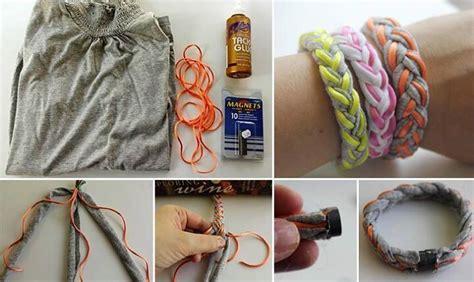 membuat gelang dari barang bekas cara membuat gelang dari bahan bekas kaos tak terpakai