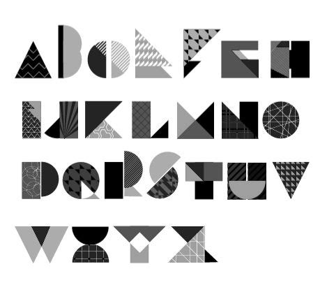 geometric pattern font 25 best ideas about geometric font on pinterest