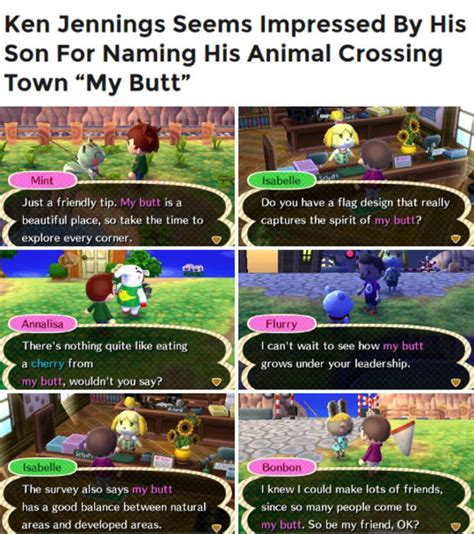 Animal Crossing Meme - my butt animal crossing know your meme