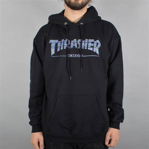 Jaket Sweater Hoodie Hoodie Dephect Black Home Clothing thrasher x gx1000 pullover hoodie black thrasher from skate store uk