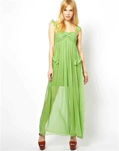 Maxi Dress Menyusui Bhm 20 lyst traffic till silk maxi dress in green