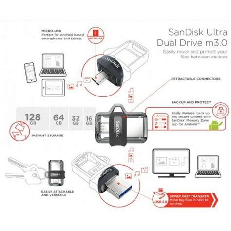 Sandisk Dual Drive M3 0 Otg 32gb sandisk ultra dual usb m3 0 micro flash drive otg 16gb
