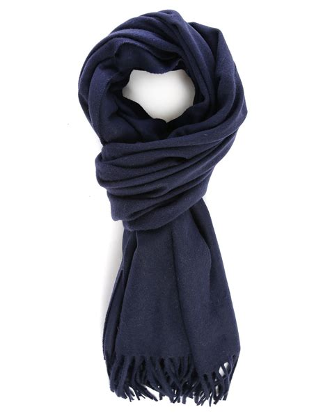 acne navy canada wool scarf in blue for navy lyst