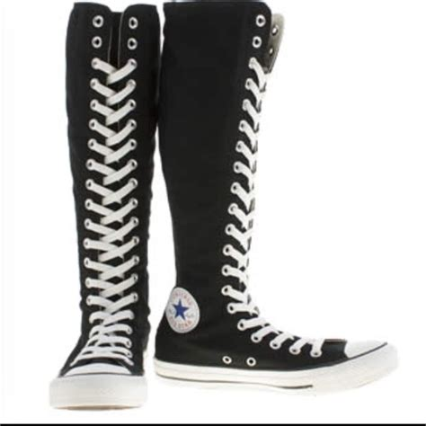 33 converse shoes new black knee high converse