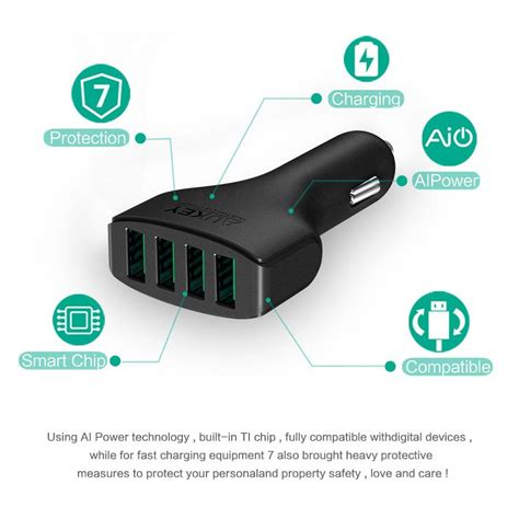 Aukey Charger Mobil 4 Port 55w 2 4a Qc 3 0 Aipower Cc T9 1 aukey charger mobil 4 port 48w 2 4a aipower cc 01 black jakartanotebook
