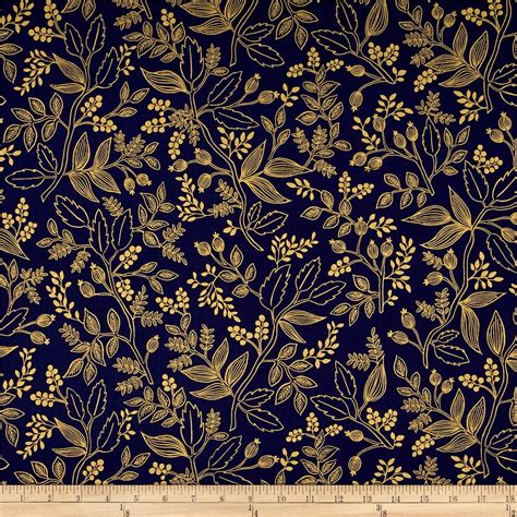 Rifle Paper by Cotton Steel Rifle Paper Co Les Fleurs Metallic