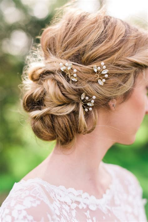 casual hairstyles with accessories set of 3 crystal hair pins bridal hair pins silver hair pins