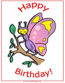 butterfly card happy birthday clip free