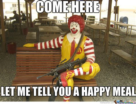 Mcdonald Memes - threatening mcdonalds ronald mcdonald by jim ivanov meme center