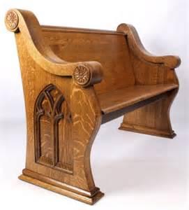 What Is Bench Warrant Antique Oak Church Pew Lot 128