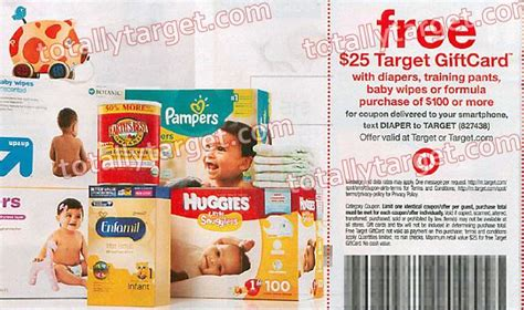 Target Gift Card With Baby Purchase - upcoming coupon get a free 25 target gift card with select baby purchase of 100
