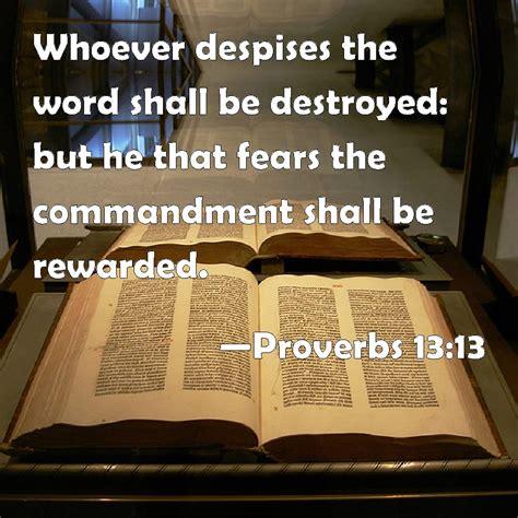 proverbs   despises  word