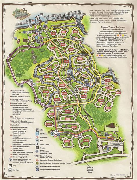 fort wilderness map disneyworldfortwildernessresortmap