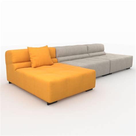 sofa italia tufty time sofa by bb italia 3d model max obj 3ds fbx mtl