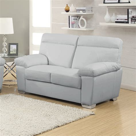 Fresh Light Grey Leather Sofa 95 In Living Room Sofa Light Grey Leather Sofa
