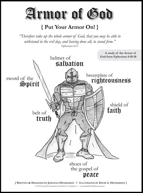 the armor of god bible study is geared for 3rd grade and