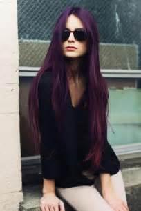 black with purple hair long dark purple hair colors ideas