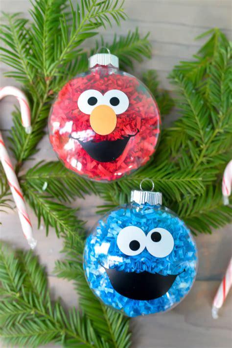 diy sesame street ornaments hey let s make stuff