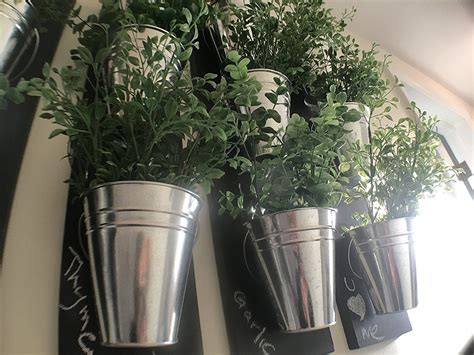 galvanized wall planter vertical indoor wall planter with galvanized steel pots the green