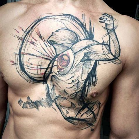 tear out tattoo designs tear out on chest best ideas gallery