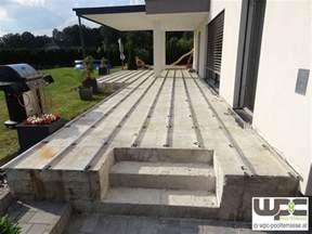 treppe mit wpc verkleiden bilder wpc aluminium alu unterkonstruktion f 252 r
